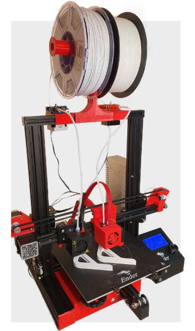 Ender IDEX Printer by SEN 3D in Duplicate Mode