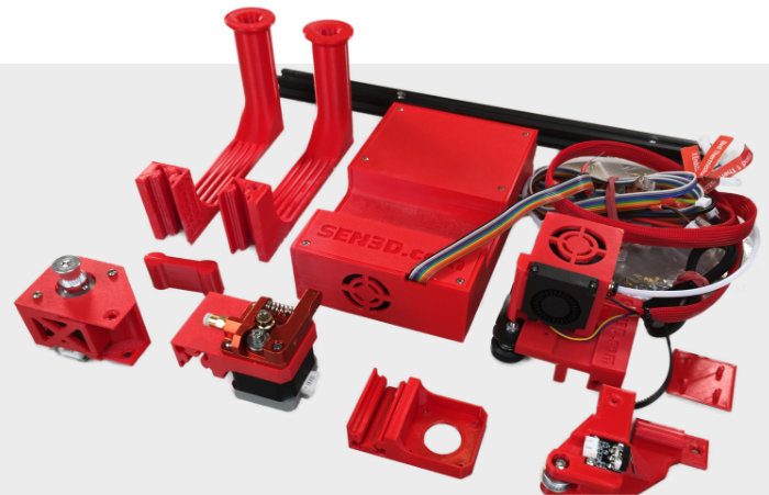 Ender IDEX Dual X-Carriage Kit Parts